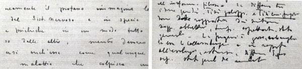 scritture differenti autografe di uno stesso autore